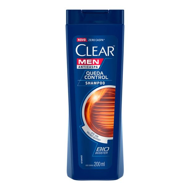 Oferta de Shampoo Anticaspa Clear Men Queda Control 200ml por R$11,38