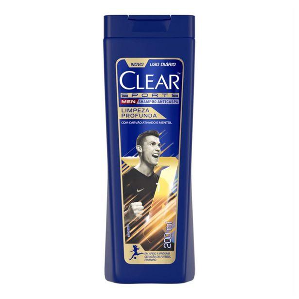 Oferta de Shampoo Anticaspa Clear Men Sports Limpeza Profunda 200ml por R$11,38