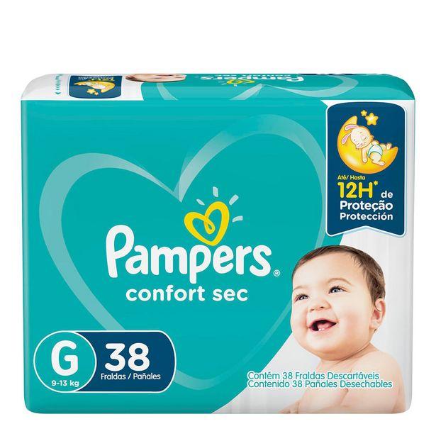 Oferta de Fralda Pampers Confort Sec G 38 Unidades por R$42,99