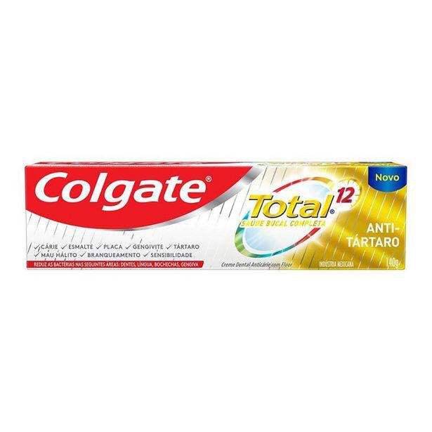 Oferta de Creme Dental Colgate Total 12 Anti Tártaro 140g por R$7,59
