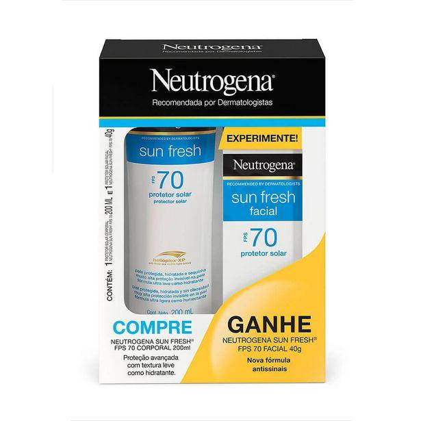 Oferta de Kit Neutrogena Sun Fresh Protetor Solar Corporal FPS70 200ml + Facial FPS70 40g por R$64,9