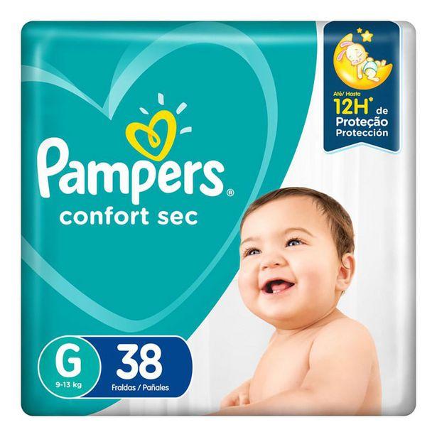 Oferta de Fralda Pampers Confort Sec G 38 Unidades por R$39,9