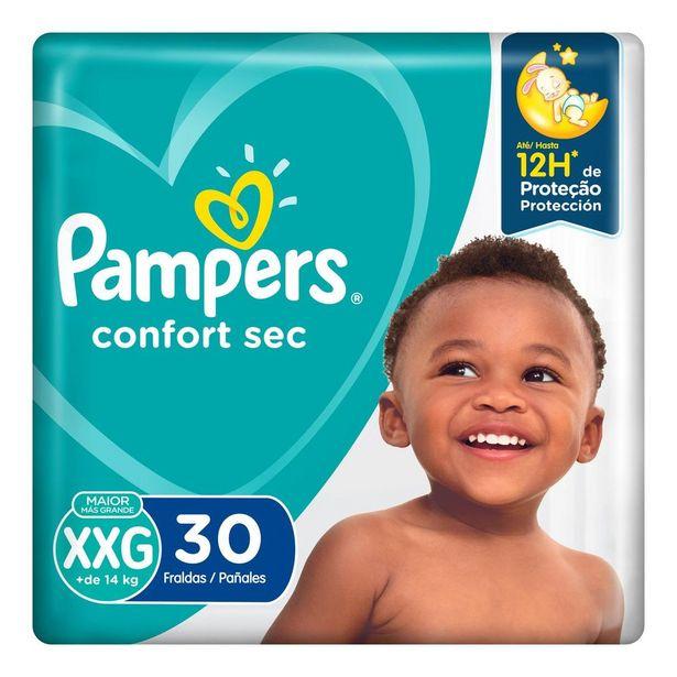Oferta de Fralda Pampers Confort Sec XXG 30 Unidades por R$39,9