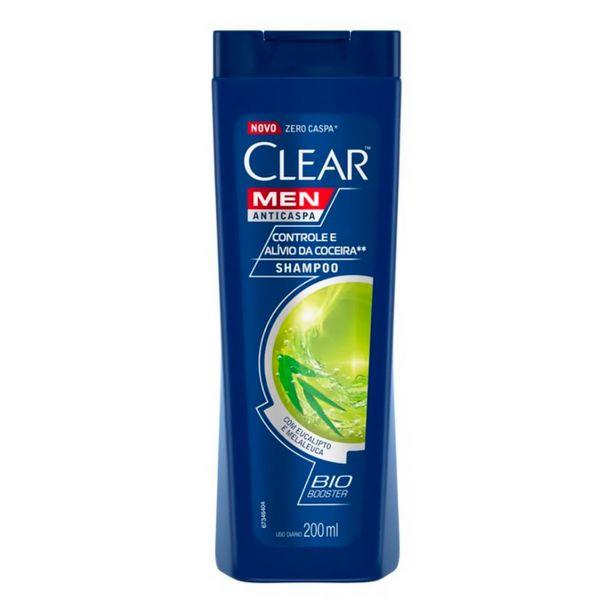 Oferta de Shampoo Anticaspa Clear Men Controle e Alívio da Coceira 200ml por R$11,38