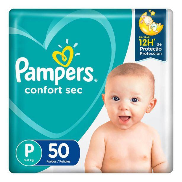 Oferta de Fralda Pampers Confort Sec P 50 Unidades por R$42,99