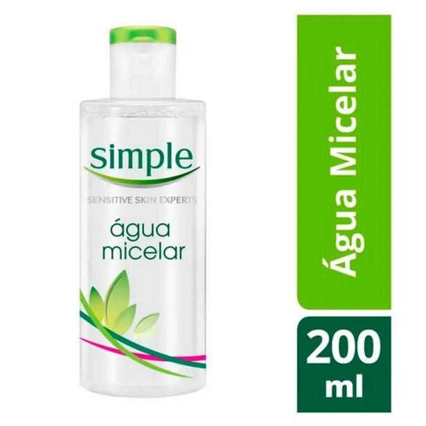 Oferta de Água Micelar Simple Solução de Limpeza Facial 200ml por R$21,99