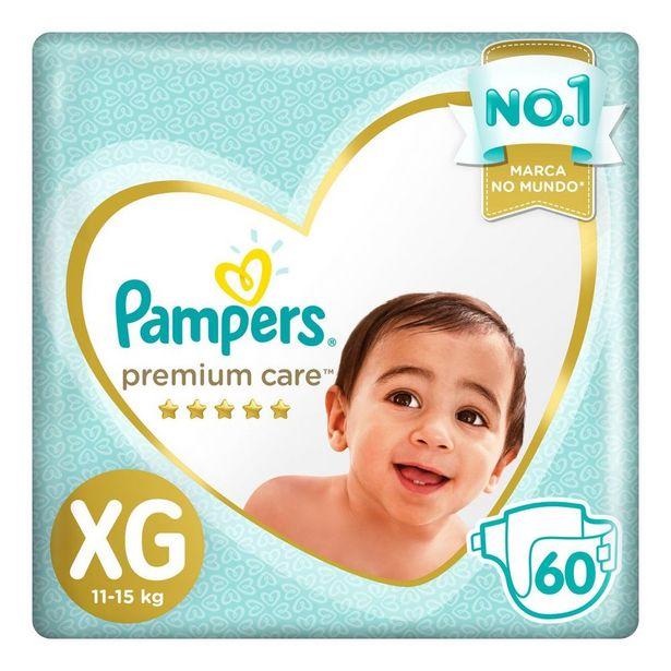 Oferta de Fralda Pampers Premium Care XG 60 unidades por R$82,49