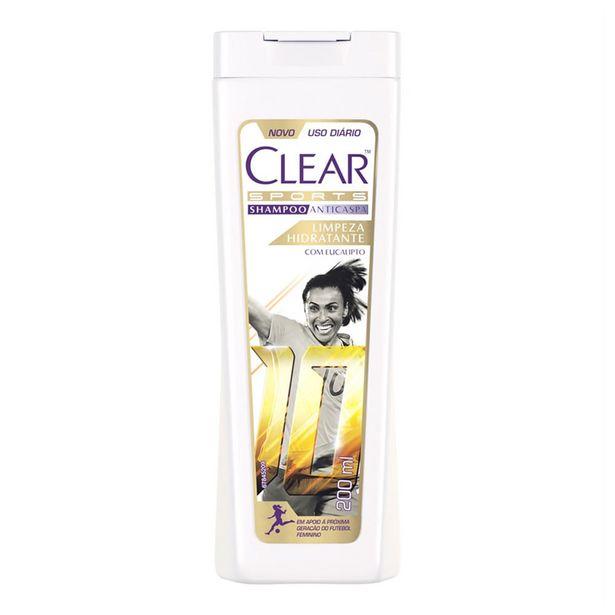 Oferta de Shampoo Anticaspa Clear Women Limpeza Hidratante 200ml por R$11,38
