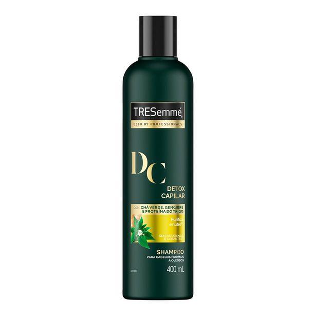 Oferta de Shampoo TRESemmé Detox Capilar 400ml por R$10,34