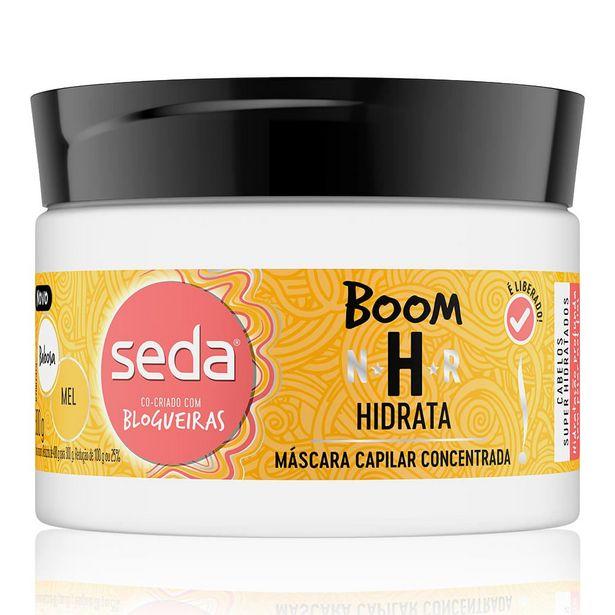 Oferta de Máscara De Tratamento Seda Boom Hidrata Babosa e Mel 300g por R$10,84