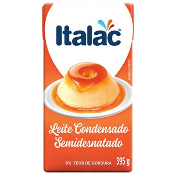Oferta de Leite Condensado semidesnatado Tetra Pak 395g - Italac por R$3,99