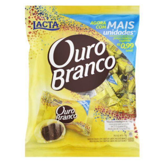Oferta de Bombom chocolate branco pacote 1kg - Ouro Branco por R$29,9