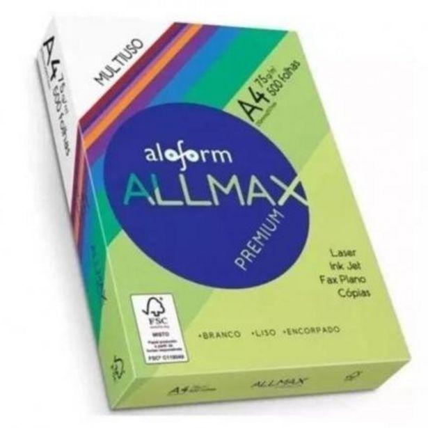 Oferta de Papel Sulfite A4 75g/m² pacote (500 folhas) - Allmax por R$14,99