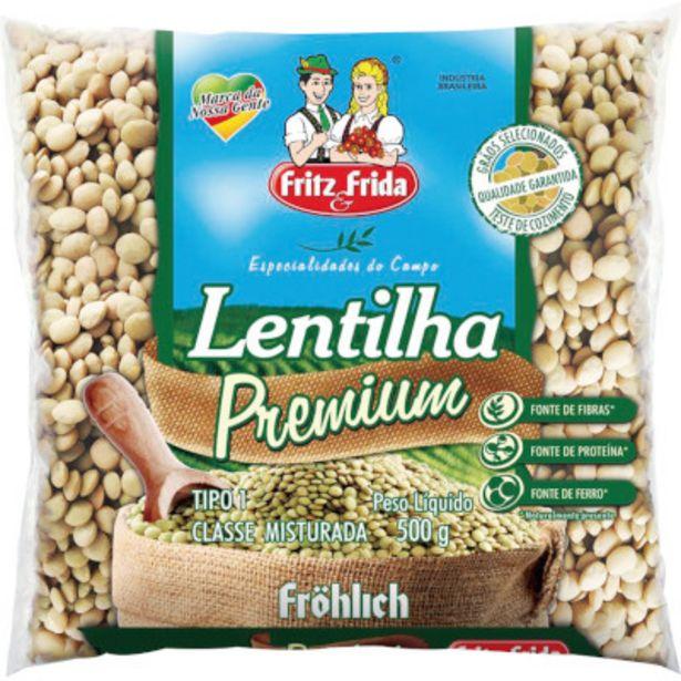 Oferta de Lentilha pacote 500g - Fritz/Frida por R$6,49