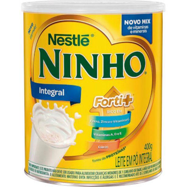 Oferta de Leite em Pó integral lata 400g - Ninho por R$17,99