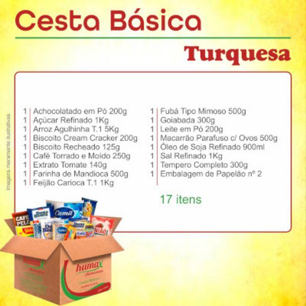 Oferta de Cesta Básica Turquesa caixa 17 itens - Humax Alimentos por R$69,9