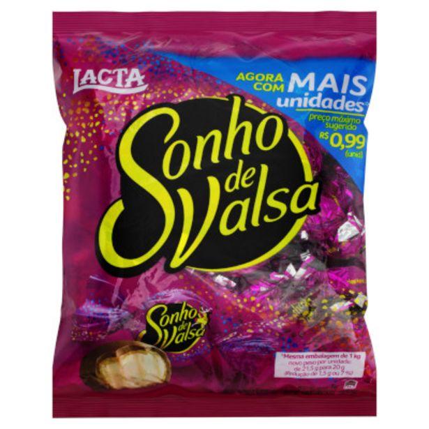 Oferta de Bombom chocolate pacote 1kg - Sonho de Valsa por R$29,95