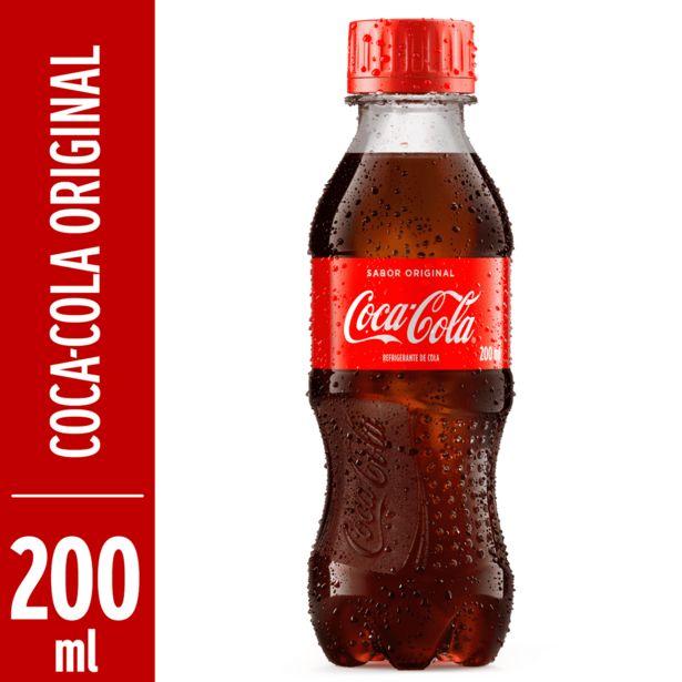 Oferta de Refrigerante Coca Cola pet 200ml - Coca Cola por R$1,1