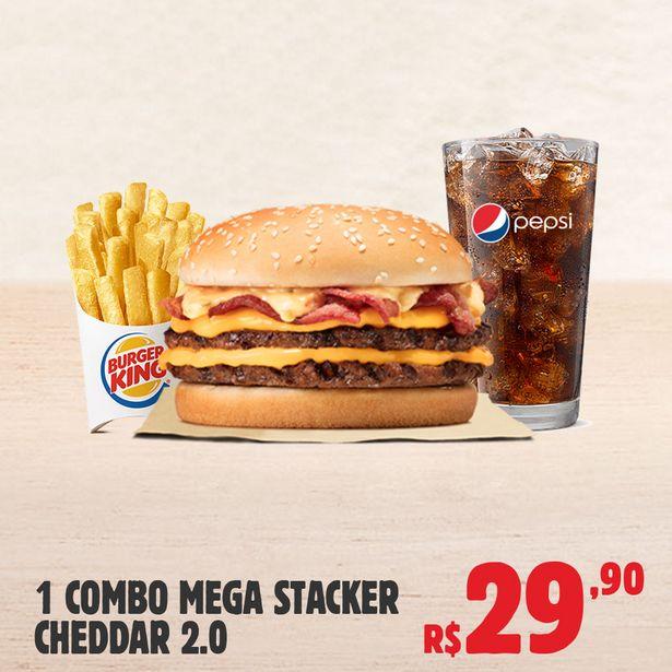 Oferta de 1 Combo Mega Stacker Cheddar 2.0 por R$29,9