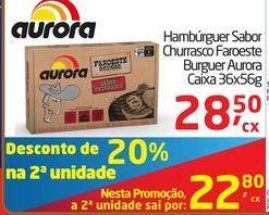 Oferta de Hambúrguer Sabor Churrasco Faroeste Burguer Aurora por