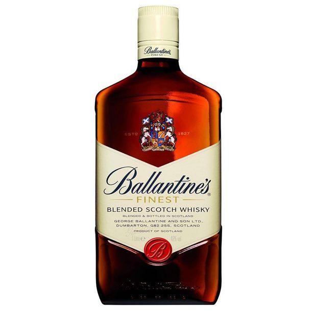 Oferta de Whisky Escocês Finest Garrafa 1 Litro - Ballantine's por R$59,9