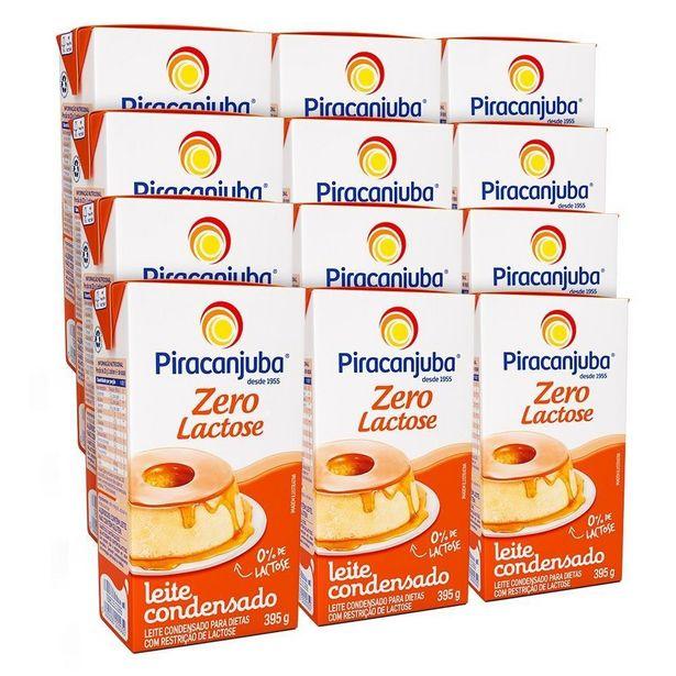 Oferta de Kit Leite Condensado Piracanjuba Zero Lactose 12x395g por R$83,88