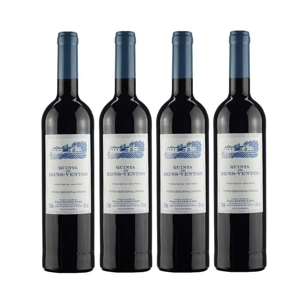 Oferta de Kit de Vinhos Tintos Quinta de Bons Ventos 750ml por R$179,6