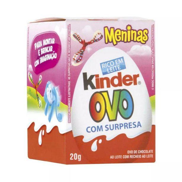 Oferta de Chocolate Kinder Ovo Meninas 20Gr por R$7,99