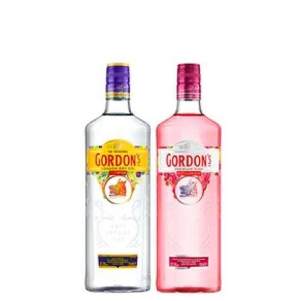 Oferta de Combo Gin Gordon`s e Gordon`s Pink 750ml por R$115,8