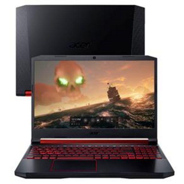 Oferta de Notebook Gamer Acer NVIDIA GeForce GTX 1650 Cor... por R$5299