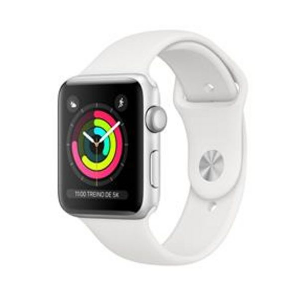 Oferta de Apple Watch Series 3 (GPS) - 42mm - Caixa prate... por R$2099