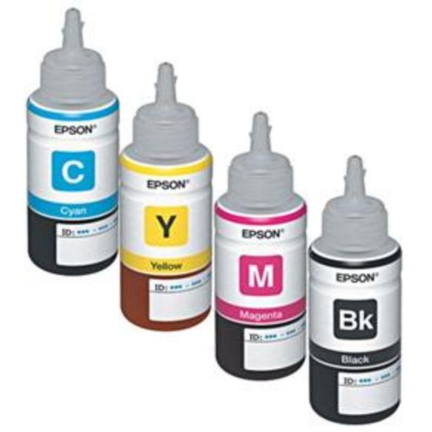 Oferta de Kit Refil de Tinta Epson 4 Cores (70ml de cada ... por R$104,99