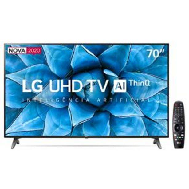 "Oferta de Smart TV LED 70"" UHD 4K LG 70UN7310PSC Wi-Fi, B... por R$4699"