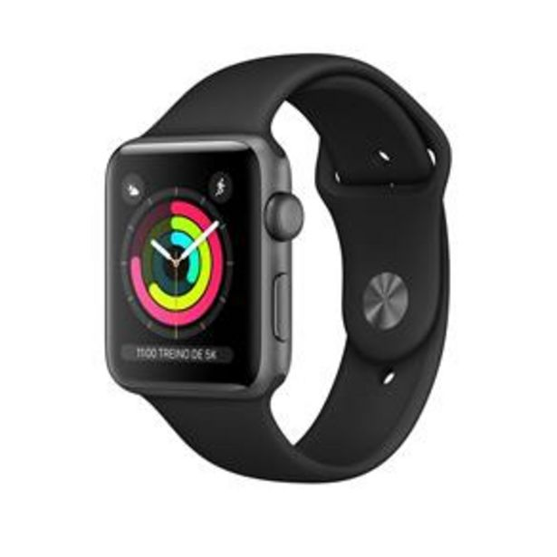 Oferta de Apple Watch Series 3 (GPS) - 42 mm - Caixa cinz... por R$2099