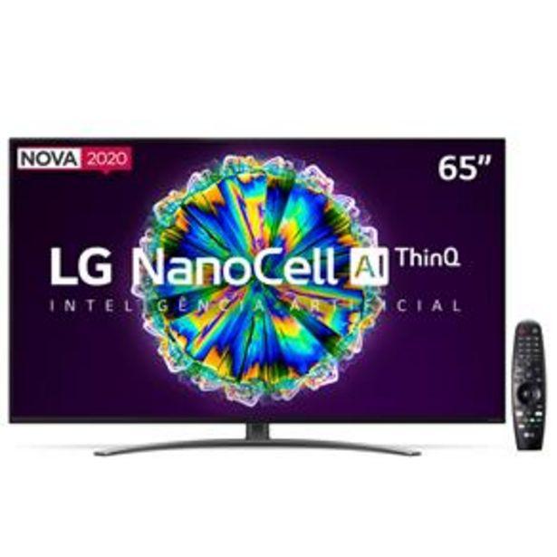"""Oferta de Smart TV LED 65"""" UHD 4K LG 65NANO86 NanoCell, I... por R$5199"""