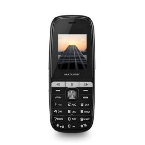 Oferta de Celular Multilaser Up Play P9076 Dual Chip, MP3... por R$89