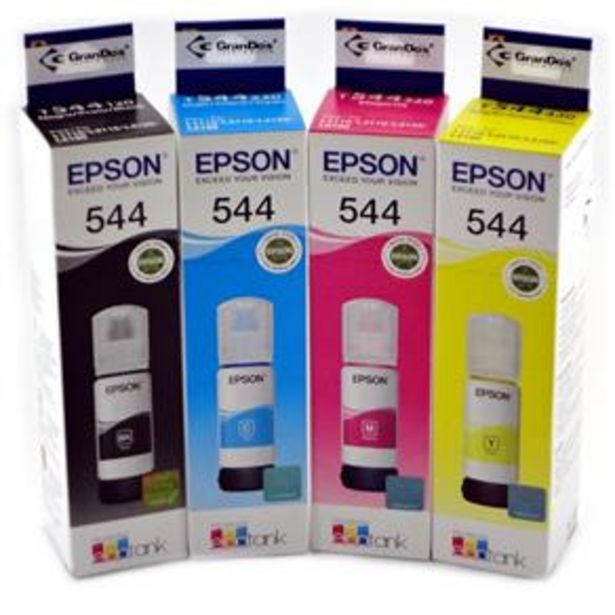 Oferta de Kit Tinta Original Epson T544 por R$78,8