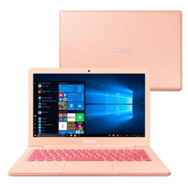 Oferta de Notebook Samsung Dual Core 4GB 64GB SSD Tela Fu... por R$2699