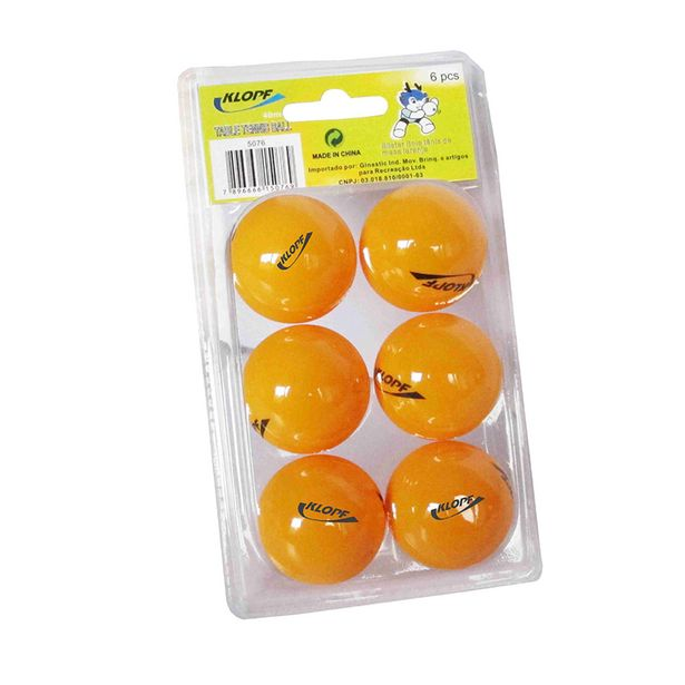 Oferta de Bola de Ping Pong Klopf Laranja 6 unidades 5076 por R$24,99