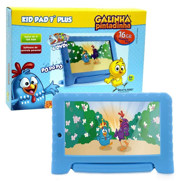 Oferta de Tablet Infantil NB311 Galinha Pintadinha Multilaser Memória 16GB 7 Pol Wi-Fi  Android 8 Quad Core Câmera 1GB Ram por R$415,9