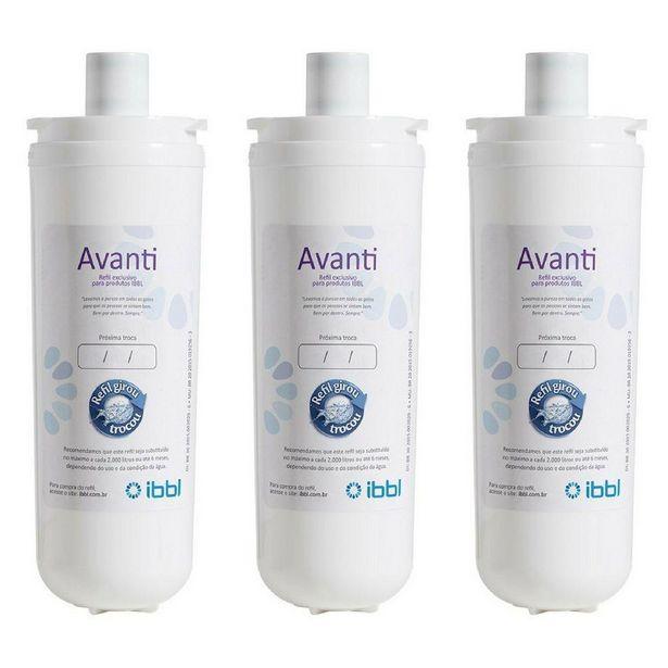 Oferta de Kit c/ 3 Filtros Refil Avanti p/ Purificador de Água IBBL - Avanti e Mio (Original) por R$99,9
