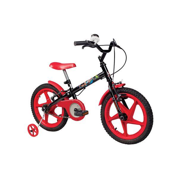 Oferta de Bicicleta Infantil Aro 16 Verden Bikes Rock Preta e Vermelho por R$459,9
