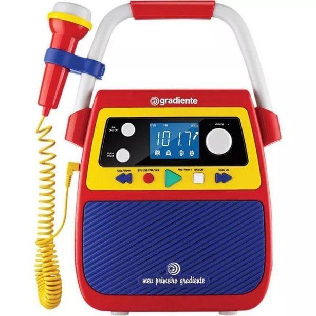 Oferta de Rádio Portátil KARAOKE Meu Primeiro Gradiente Bluetooth por R$404,67