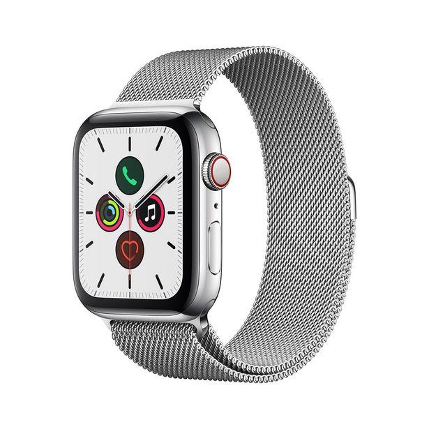 Oferta de Apple Watch Series 5 (GPS + Cellular) - 44mm - Caixa de Aço Inoxidável com Pulseira Estilo Milanês por R$5683,16