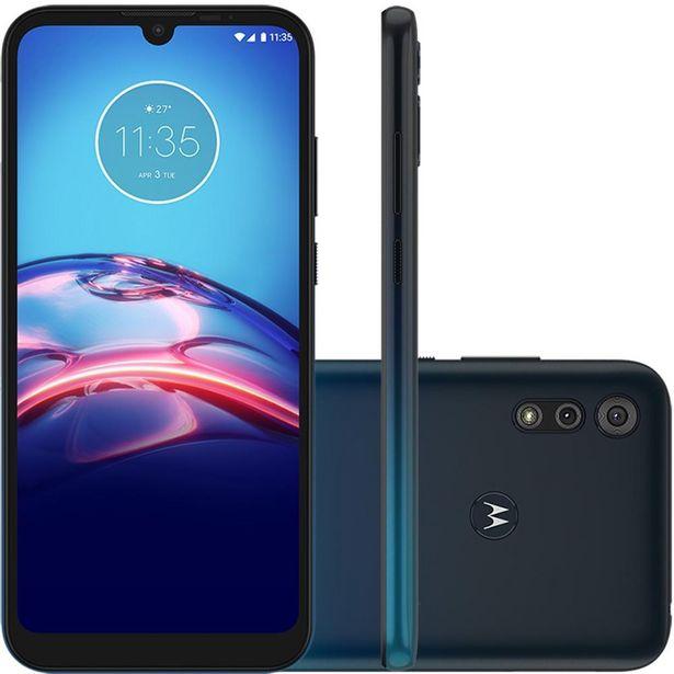 Oferta de Celular Motorola Moto E6s Azul Marinho 64GB Tela 6.1 4GB RAM Cam Dupla 13MP 2MP por R$1139
