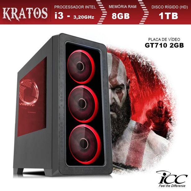 Oferta de PC Gamer ICC KT2382SW Intel Core I3 3,20 Ghz 8GB 1TB GT710 2GB HDMI FULL HD Windows 10 por R$2529,32