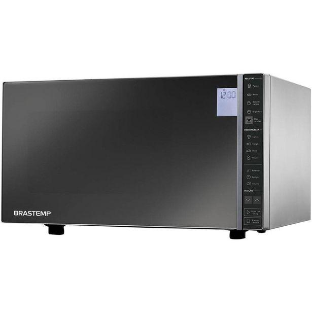 Oferta de Micro-ondas Brastemp Espelhado 32 Litros 110V BMS45CRANA por R$839