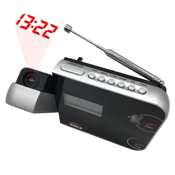 Oferta de Rádio Relógio Despertador Digital AM/FM c/ Projetor de Horas Preto CR-308 por R$59,9