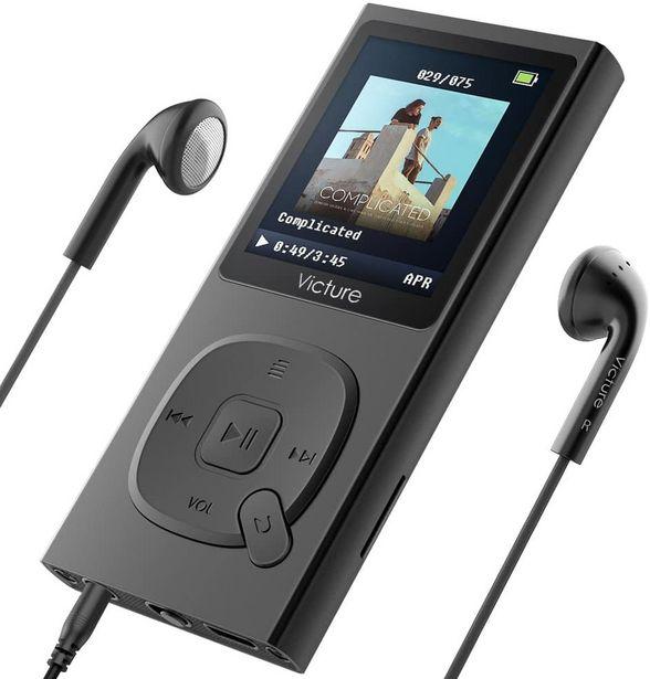Oferta de Victure 100 Horas MP3 Player 8G Portátil Lossless Sound Hi-Fi Metal Music Player com fone de ouvido FM Radio 1.8TFT Screen Voice Recorder, Suporte até por R$263