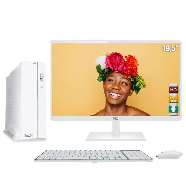 Oferta de Computador EasyPC Slim White Intel Core i5 8GB HD 500GB Monitor LED 19.5' HQ HDMI Branco\n por R$2239